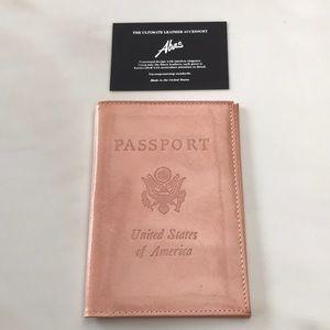 NWT leather passport holder